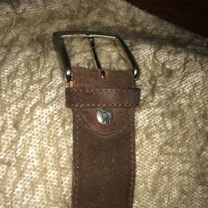 Vera Pelle 100% genuine brown leather suede belt